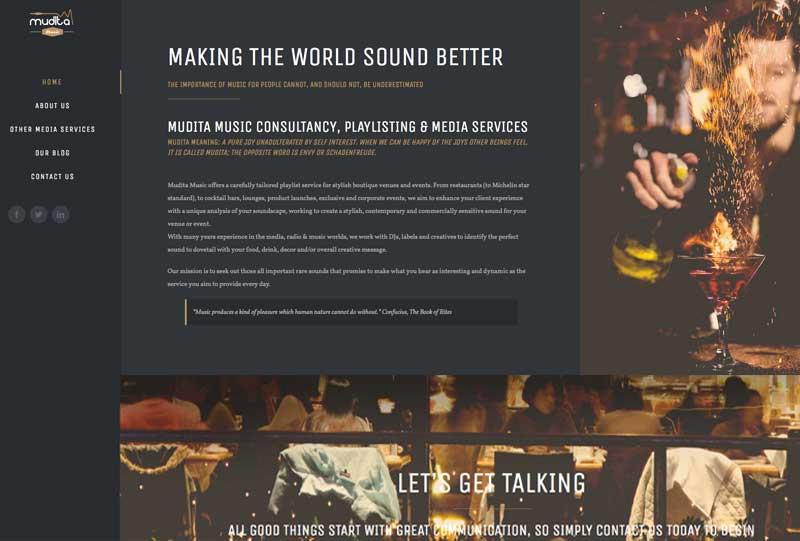 mudita-music web design marbella disenoideas