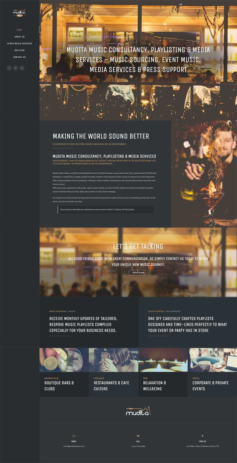 Great Website Design Ideas ideas for designing a web page with antique and retro web design web design ideas Mudita Music Web Design Marbella Disenoideas