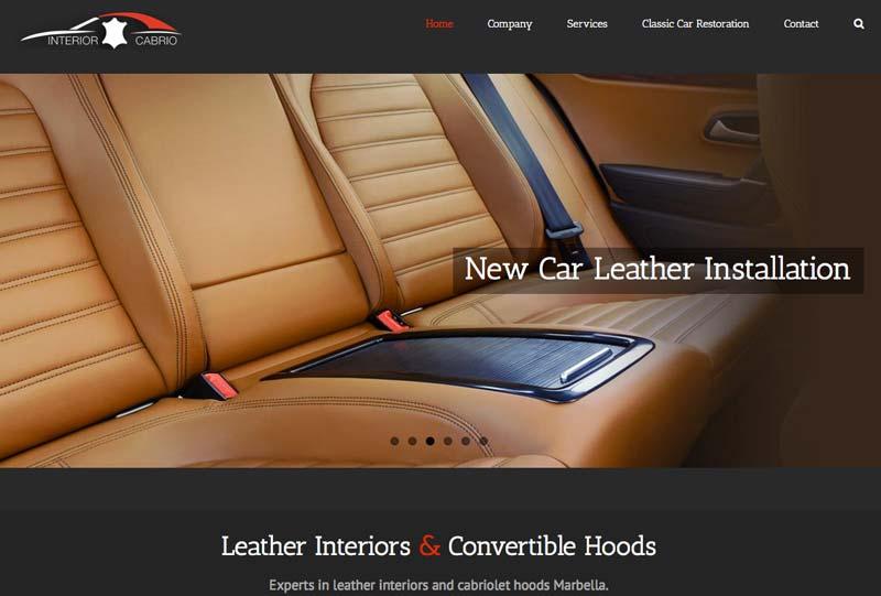 interior cabrio Marbella ecommerce WordPress Website Design development marbella-disenoideas