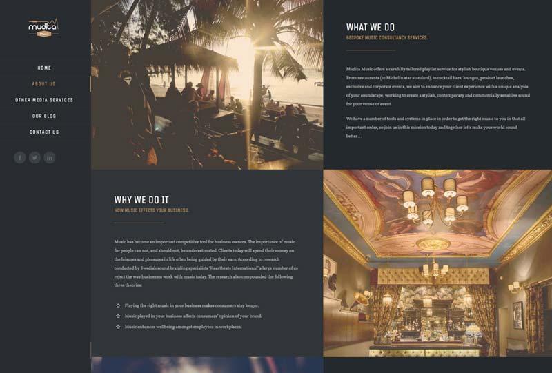 mudita music web design marbella disenoideas