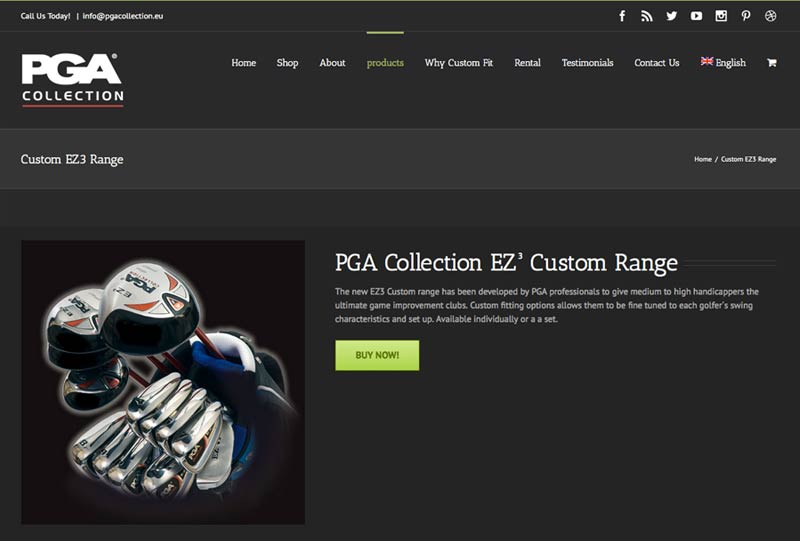 PGA collection - Responsive, eCommerce, Web Design, WordPress