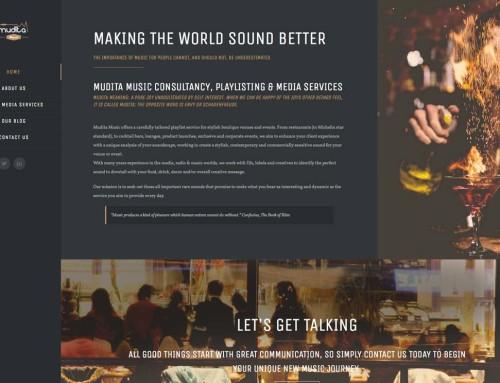 Mudita Music – Web Design