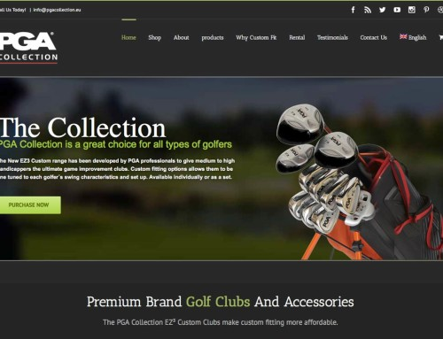 PGACollection – ecommerce Web Design