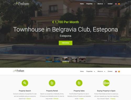 Podium Real Estate – Website Design