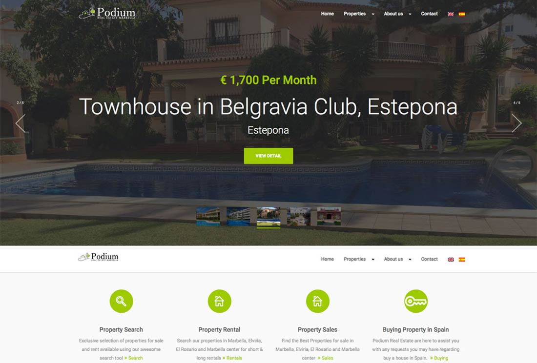 Podium Real Estate - Responsive, Web Design, WordPress