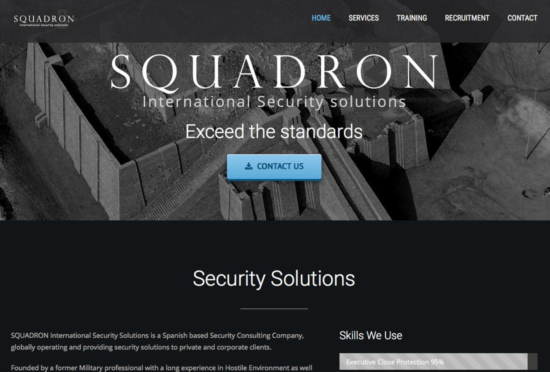 squadron-security-marbella-wordpress-website-design