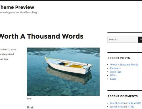 2016 plantilla WordPress Twenty Sixteen