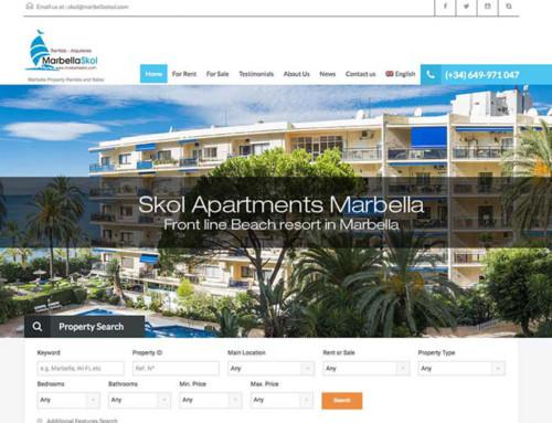 Marbella Skol – Real Estate Web Design