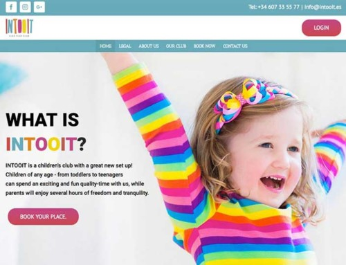 Intooit Kids Club Marbella WordPress Design