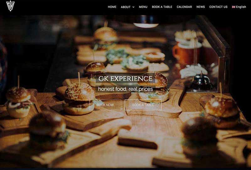 wordpress web design gk sports pub and cafe in san pedro de alcantara
