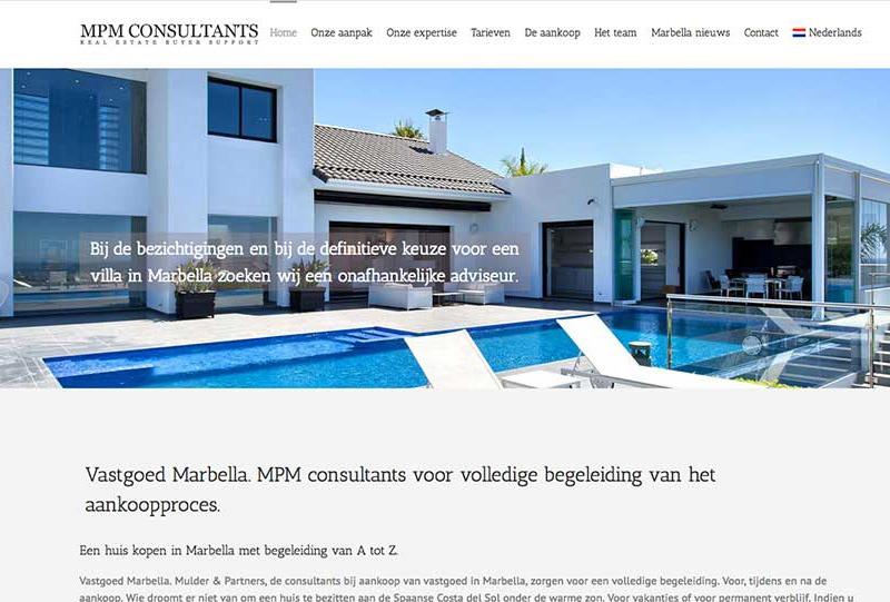 wordpress real estate property consultants marbella wordpress design