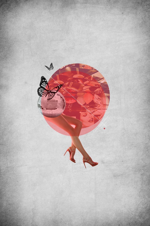 retro collage pop art designs, collage graphic design, disenoideas