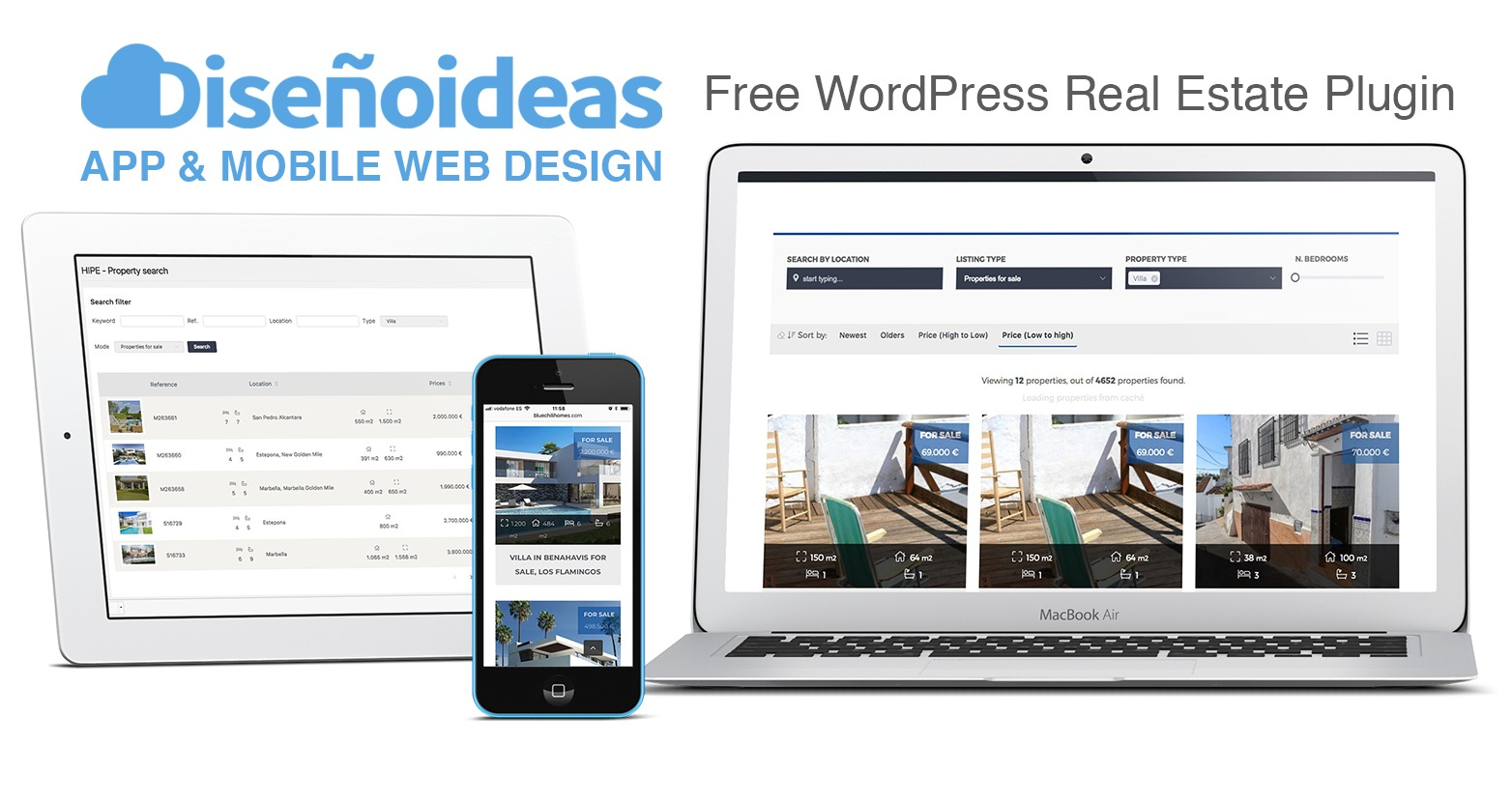 free wordpress real estate plugin milenio plus marbella