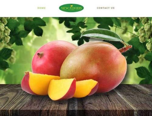 New Foods Fruit Website Design