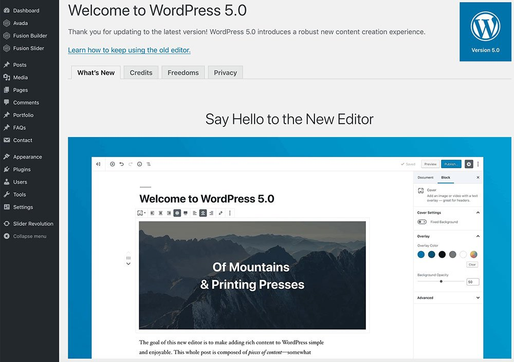 wordpress-5-gutenburg-marbella-wordpress-website-designers