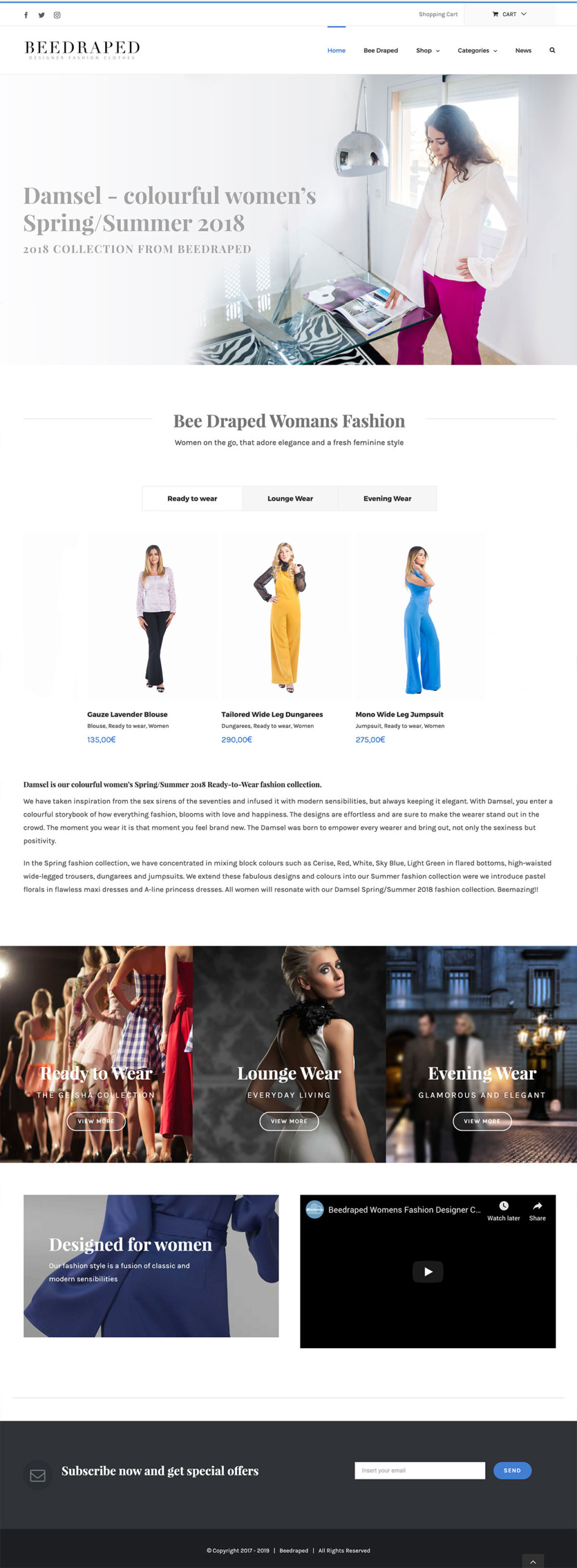 fashion designer website marbella fashion branding and clothing website