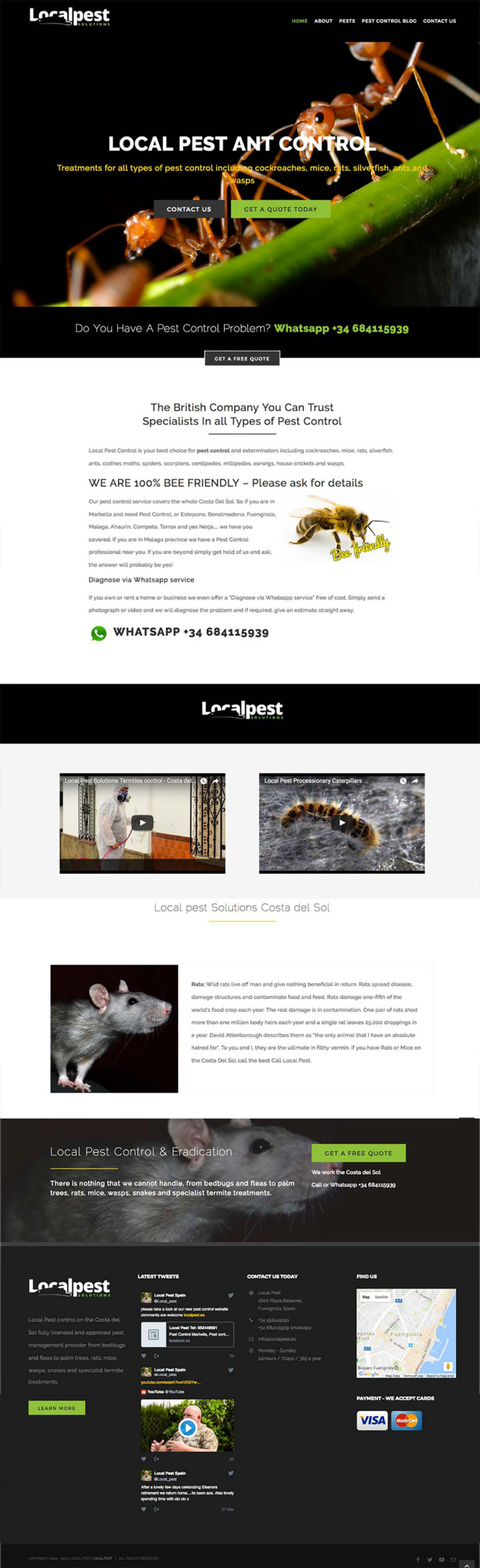 local pest control services marbella pest control wordpress design