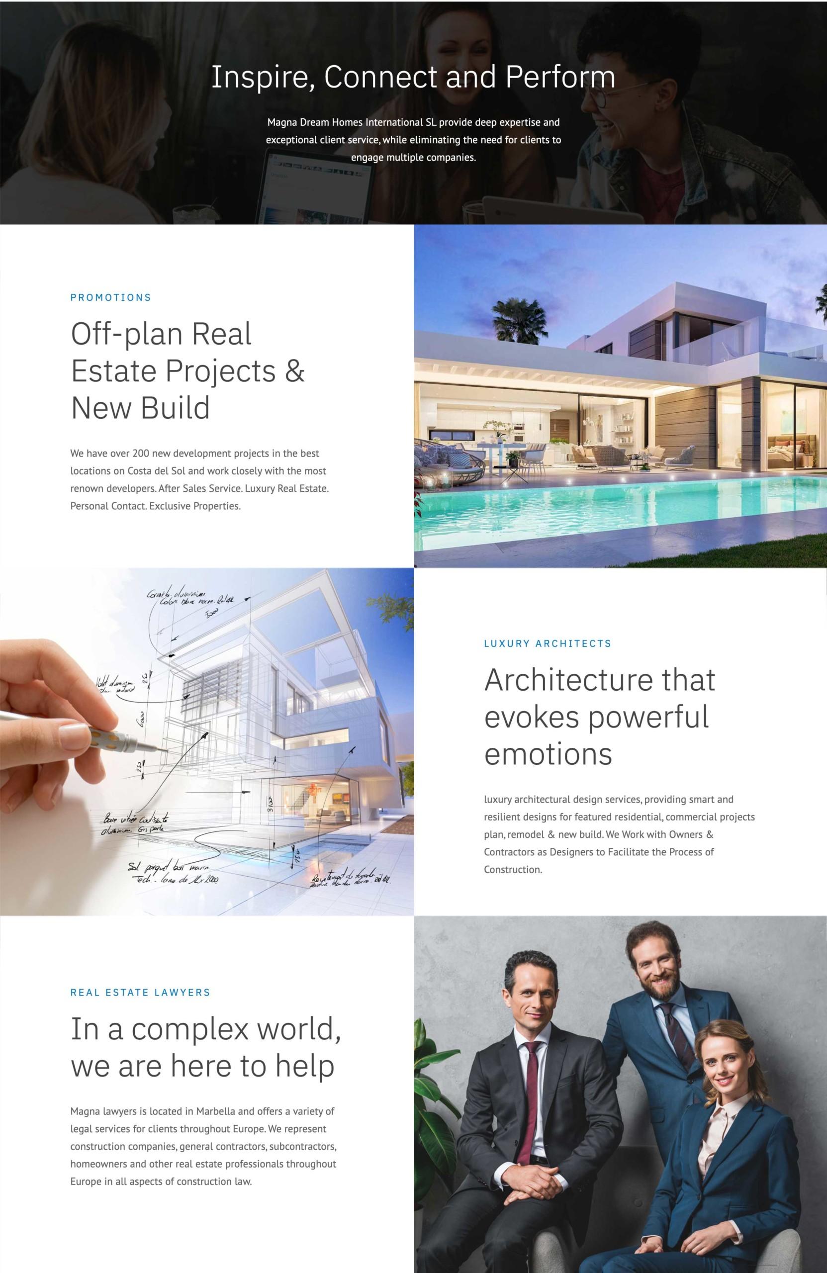 magna dream homes marbella wordpress website design with resales online plugin for wordpress