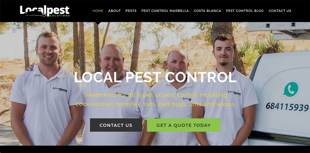 marbella pest control services local pest marbella wordpress website design