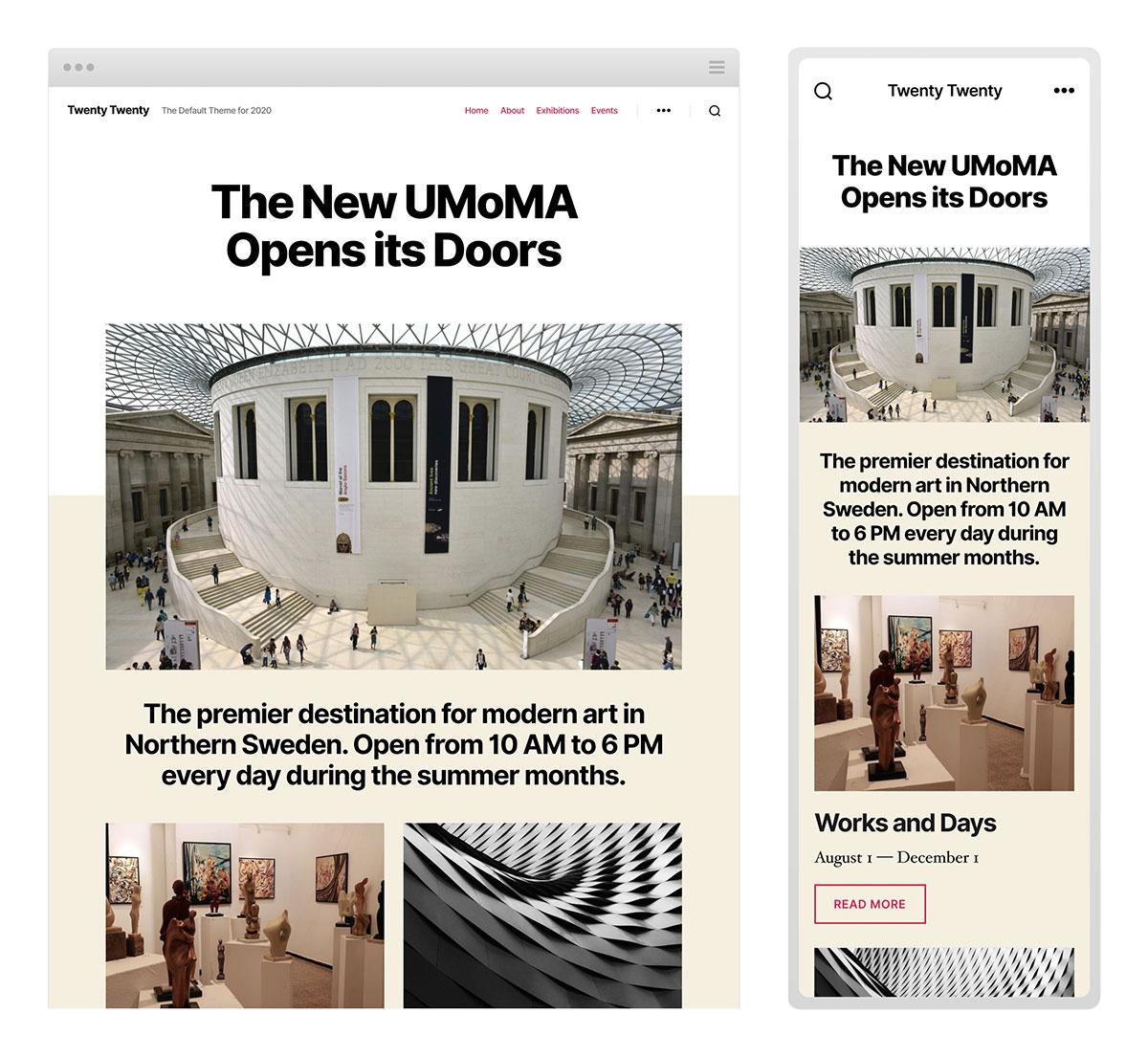2020 wordpress website designs the latest wordpress updates