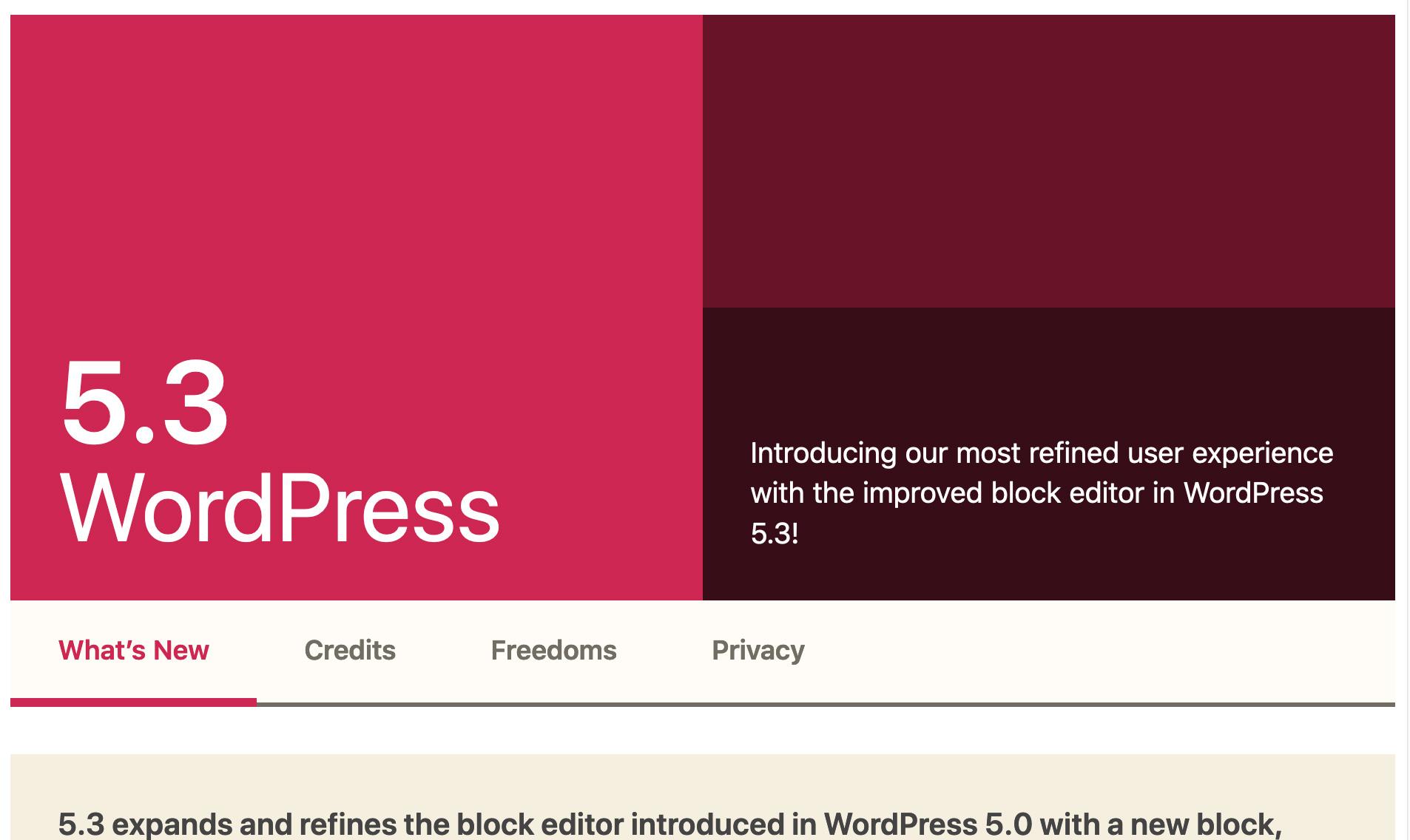 wordpress 2020 kirk updtate 5-3 latest WordPress revolution