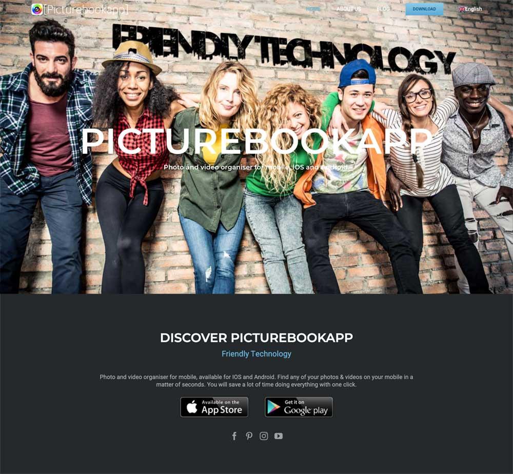 picturebookapp website and app design by disenoideas marbella wordpress website and app designers